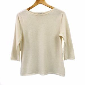 Investments Fine Cashmere Sweater Ivory size M